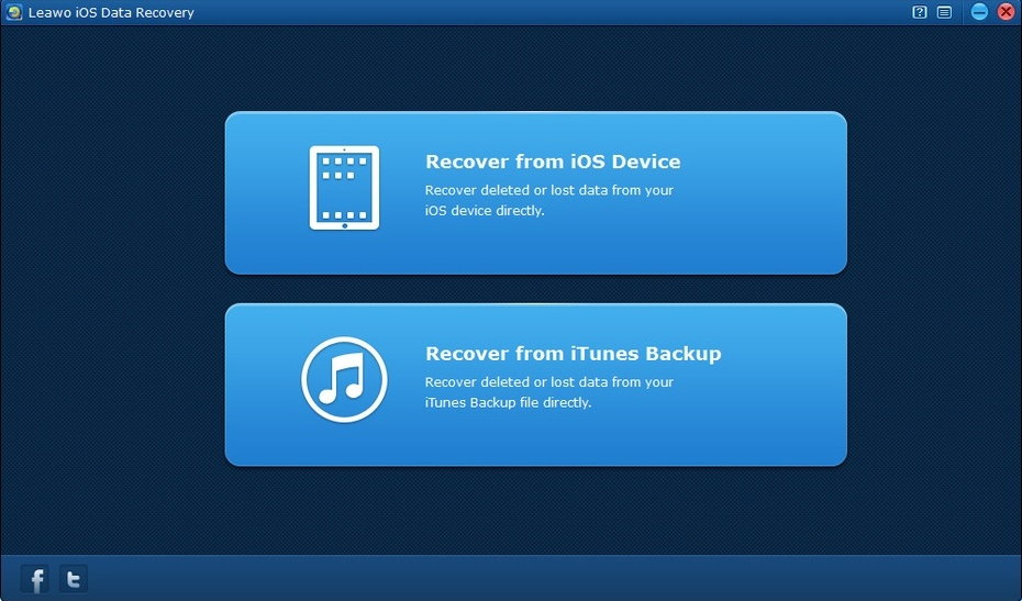 Enter Recover from iTunes backup mode