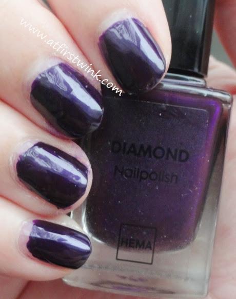 HEMA Diamond nail polish 05 (dark eggplant purple)