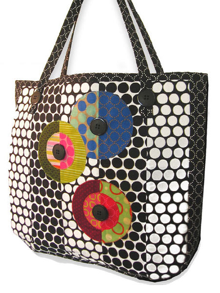 Tote Patterns Free : Ruffle Tote and Coin Purse , free pattern at Robert Kaufman Fabrics