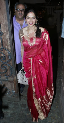 Sridevi and Boney Kapoor snapped after Karwa Chauth
