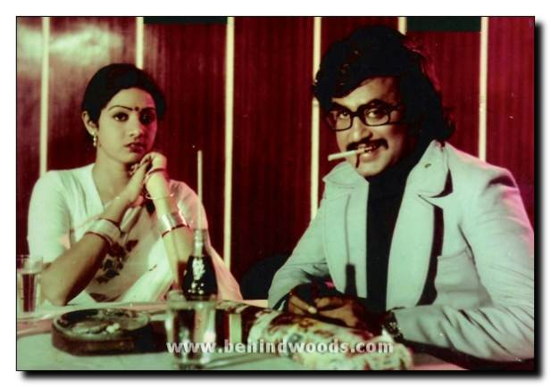 Rajinikanth & Sri Devi in 'Dharma Yutham' movie 1