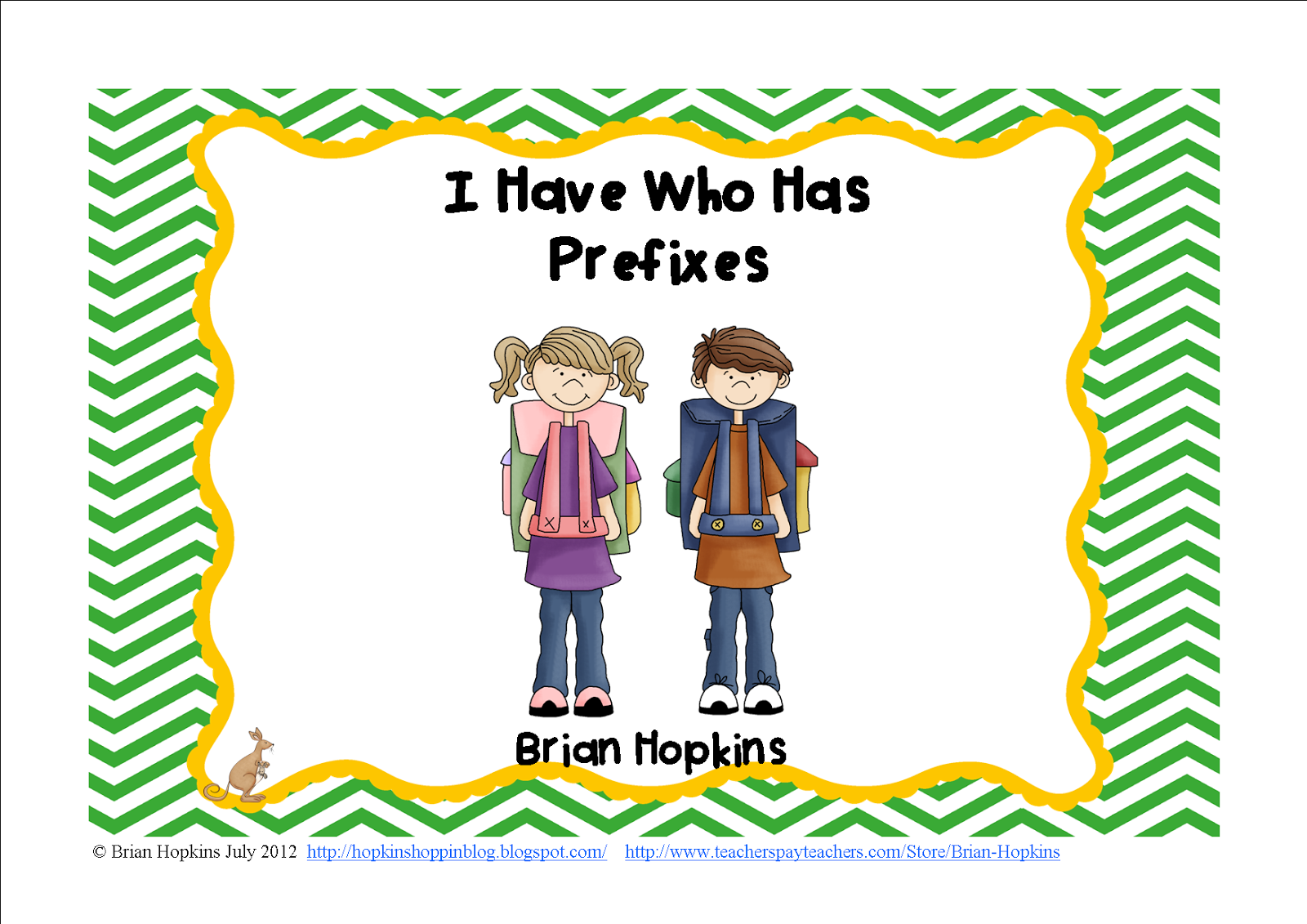 http://www.teacherspayteachers.com/Product/I-Have-Who-Has-Prefixes-Common-Core-284065