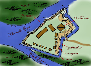 Map of Black Powder Era Fort King George