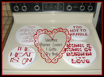 Valentine Burner Covers