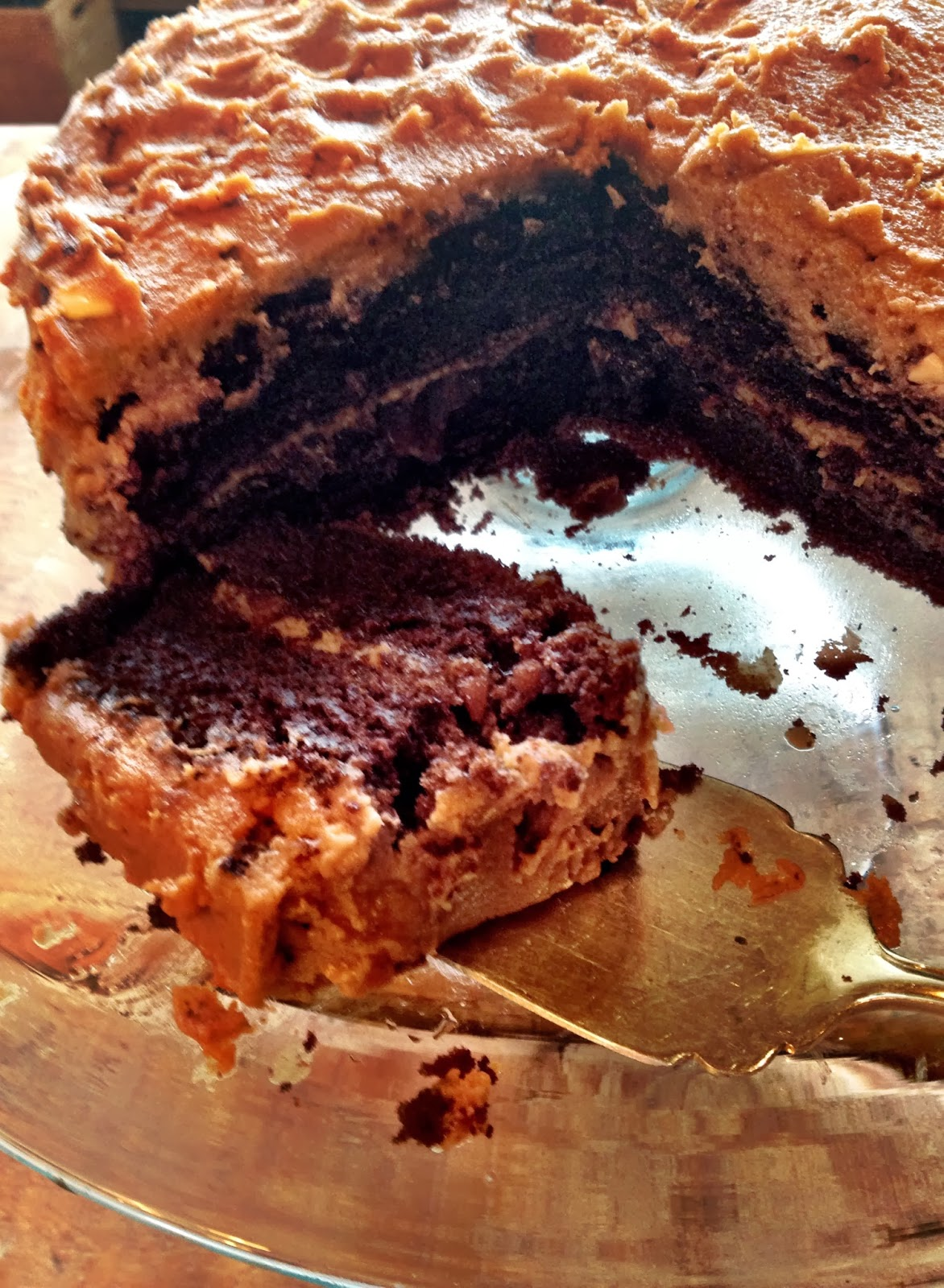 My Farm Life Diary: Peanut Butter and Jam Chocolate Cake