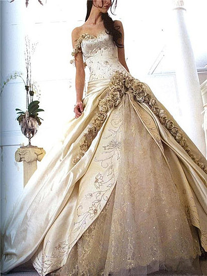 heart wedding dress gold wedding dress