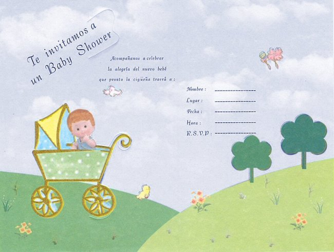 la casa de chichi: Invitaciones Baby Shower