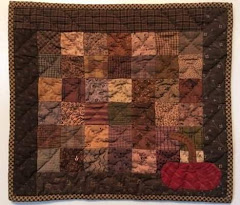One Patch With Pumpkin Quilt