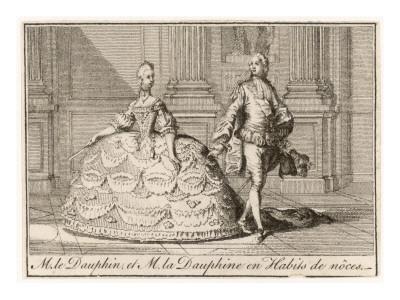 Marie-Antoinette in Art - Page 2 Louis-xvi-with-marie-antoinette-in-their-wedding-costumes-1770