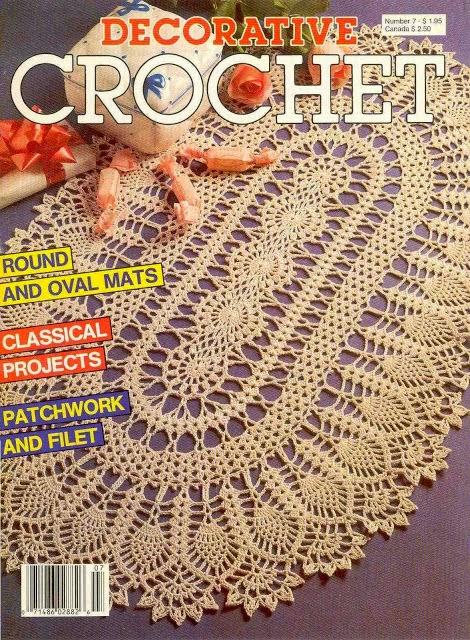 Magazine De Crochet : ... crochet de Centro de Mesa Ovalado Crochet y Dos agujas - Patrones de