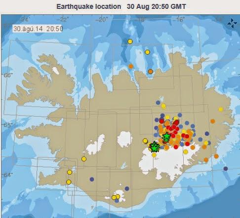 Jordskalv de senaste 48 timmarna www.vedur.is