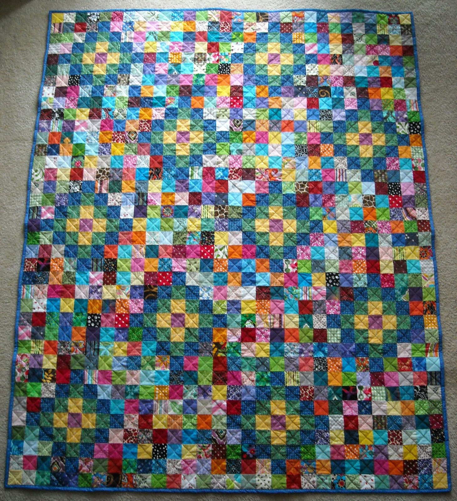 Crafter without a cat scrap quilt 2 a christmas gift to for Scrap quilt