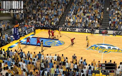 NBA 2K13 New Denver Nuggets Pepsi Center Court