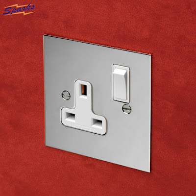 Forbes and Lomax Nickel Silver 13A switched socket