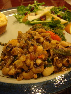 Recipe: Black eye peas and greens