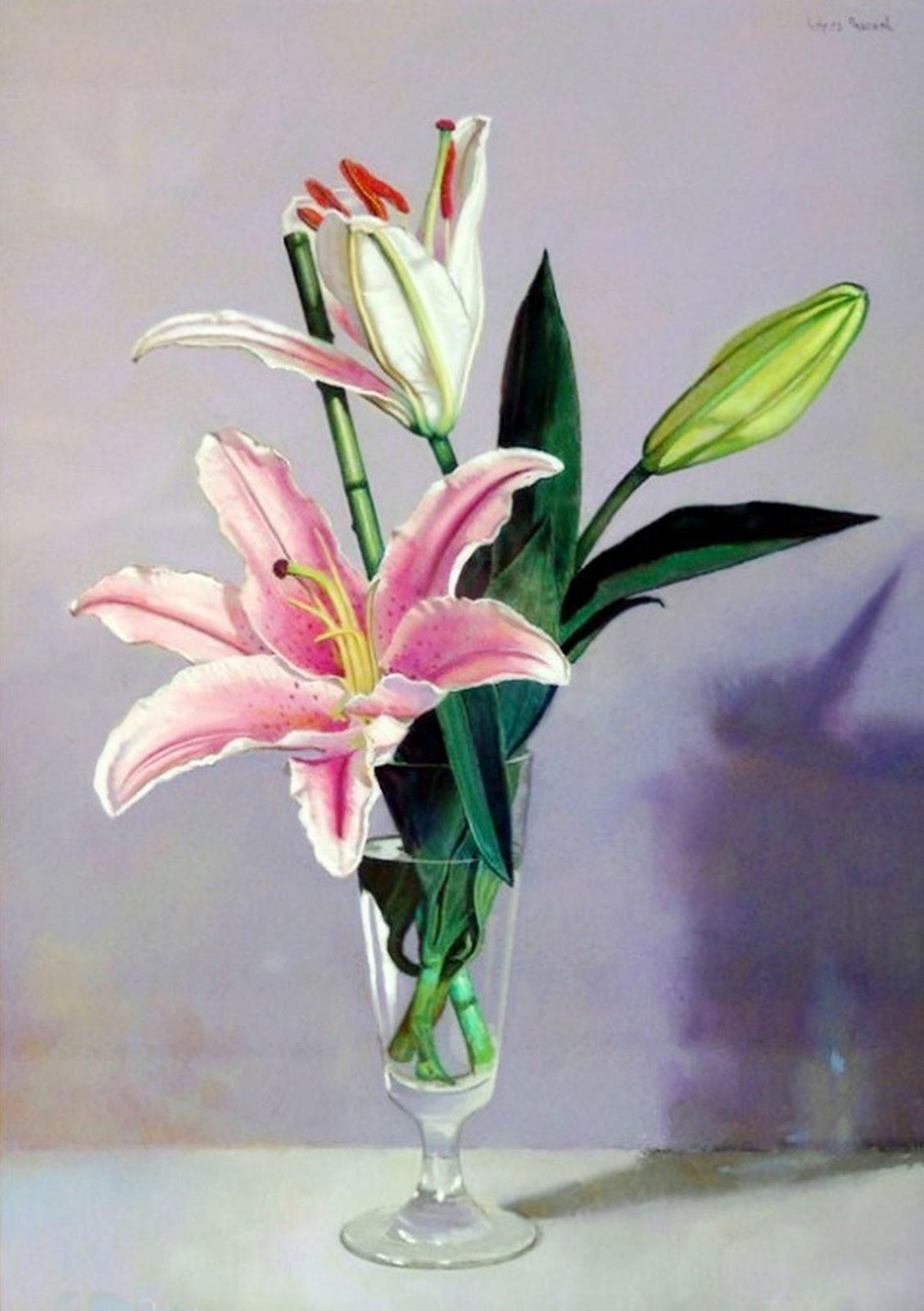 Cuadros modernos pinturas y dibujos cuadros flores - Floreros modernos ...