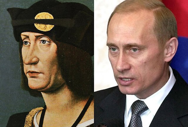 Parecidos razonables: Luis XII y Vladimir Putin.