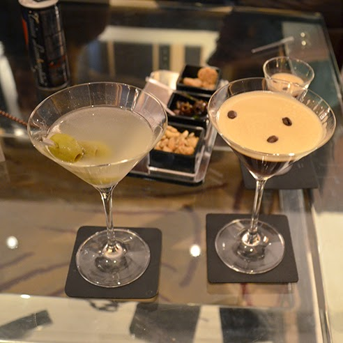 Dirty Martini and Espresso Martini at Westbury