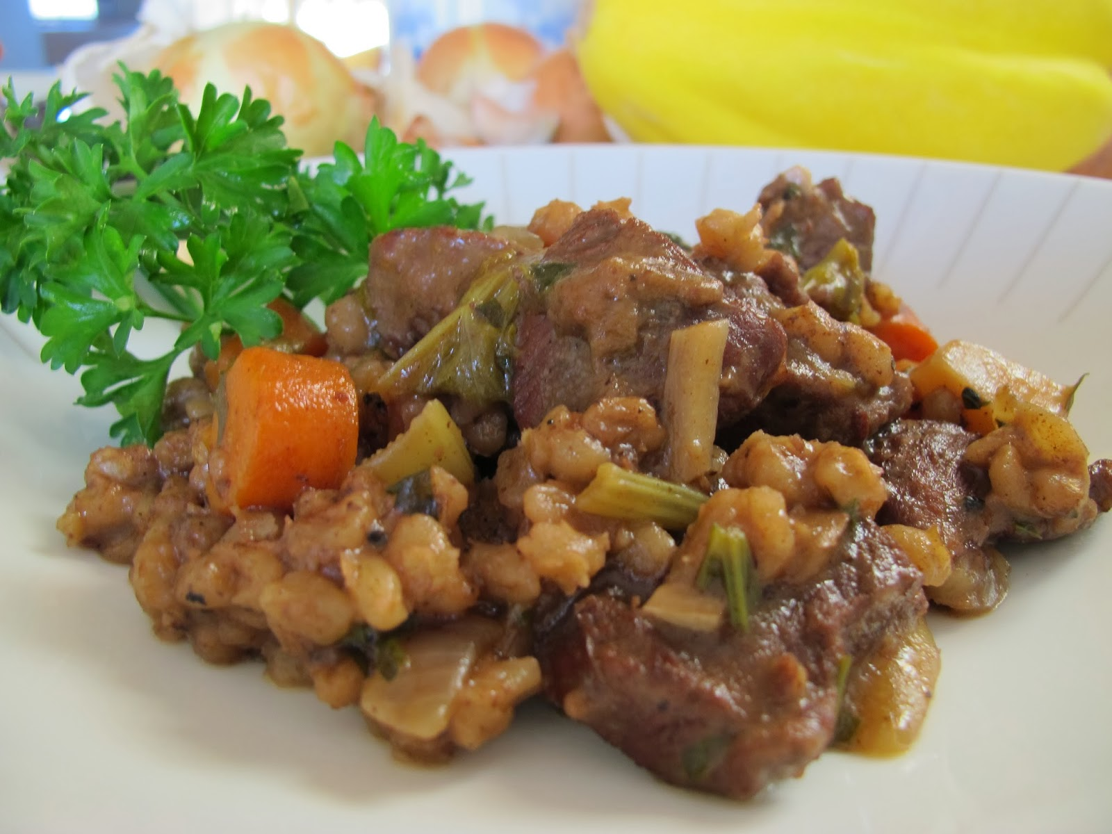 MORE TIME AT THE TABLE: Lamb and Barley Stew with Root Vegetables