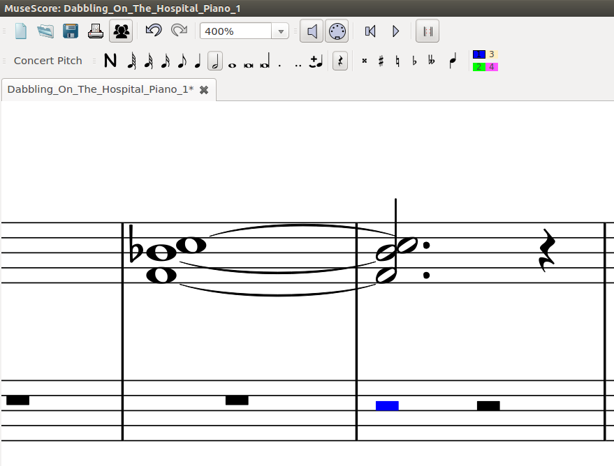 musescore add rest