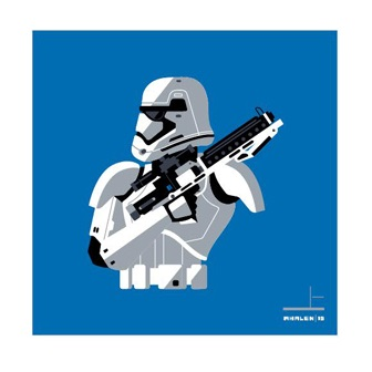 San Diego Comic-Con 2015 Exclusive Star Wars Stormtrooper Screen Print Set by Tom Whalen - First Order Stormtrooper
