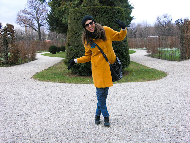 "yellow WINTER LOOK ""MUSTARD COAT"""