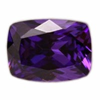 rectangle cushion cubic zirconia violet