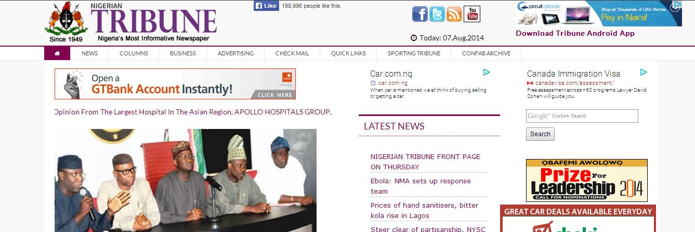Marvelous Punch Nigeria #1: Nigeria+Newspaper+Headlines+Online+Today++Punch+Vanguard+Sun+BusinessDay+PMNews+Tribune+Nairaland.png