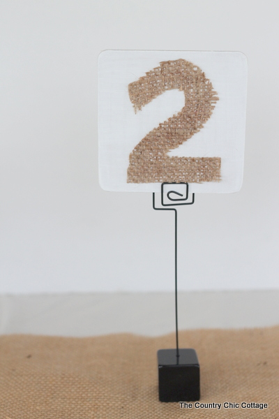 DIY Wedding Ideas -- 3 Table Number Tutorials