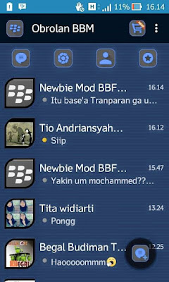 BBM MOD MR DARK BLUE 2.9.0.45 APK