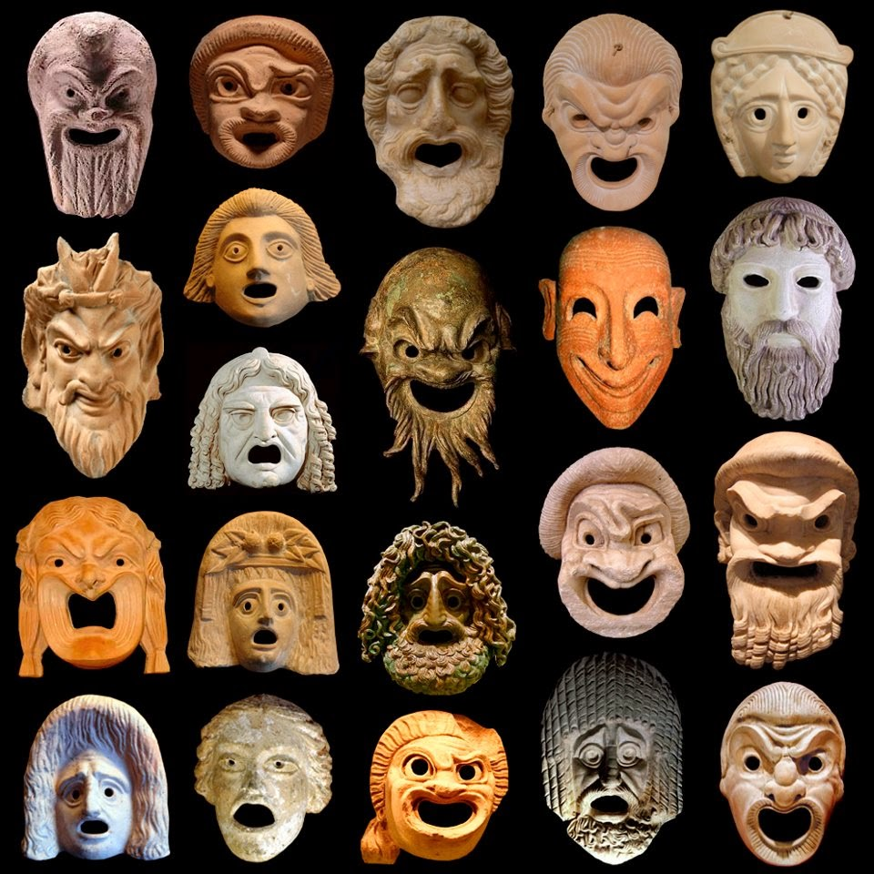 Las máscaras para la persona con la cafeína