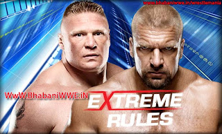 Extreme Rules 2013 » Triple H vs Brock Lesnar (Steel Cage Match)