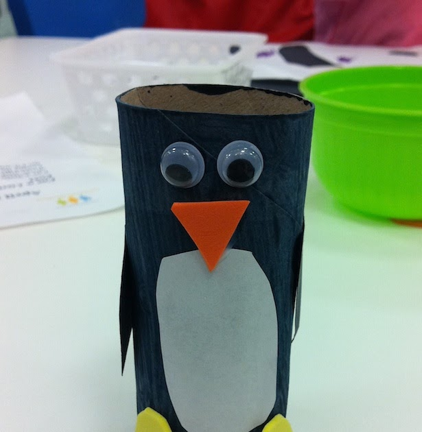 Momstown Winnipeg Penguin Toilet Paper Roll Craft