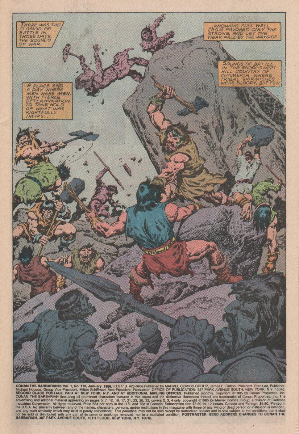 Conan the Barbarian (1970) Issue #178 #190 - English 2