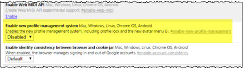 How to Disable the New User Profile Menu in the Chrome