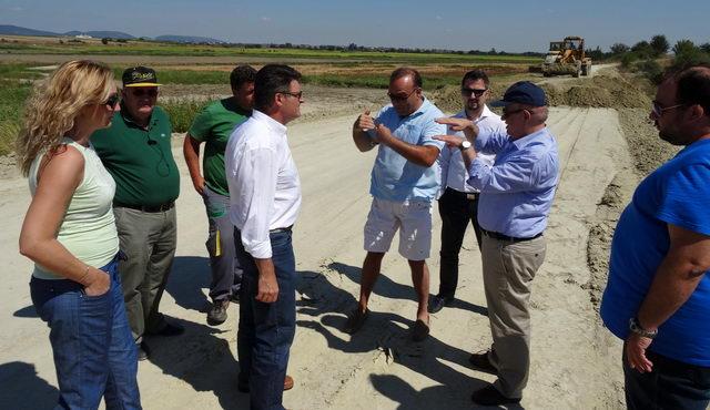 Τις εργασίες αποκατάστασης των αναχωμάτων του ποταμού Έβρου επιθεώρησε ο Γ. Παυλίδης