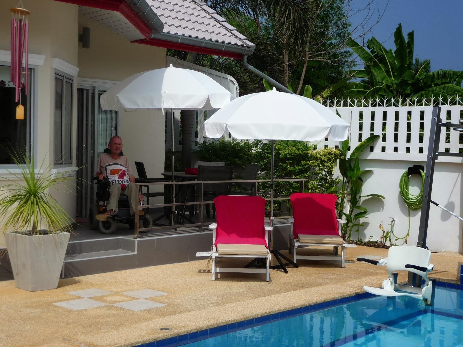 Thailand, aangepaste vakantiewoning.