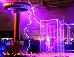 Sangkar Faraday Pada  Pertunjukan Sulap