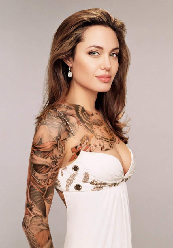 Poisonous Snakes 10 Elegant Girl Half Sleeve Tattoo