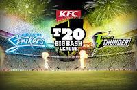 Watch BBLT20 Cricket Live Streaming Adelaide Strikers vs Sydney Thunder 1st Semi Final 2015-16.