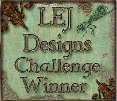 I'm a winner at LEJ Designs!
