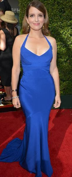 Tina Fey, Plain And Simple, But Ever So Stylish In Her Blue Figure