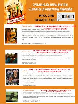 CARTELERA DEL FESTIVAL BAJO TIERRA