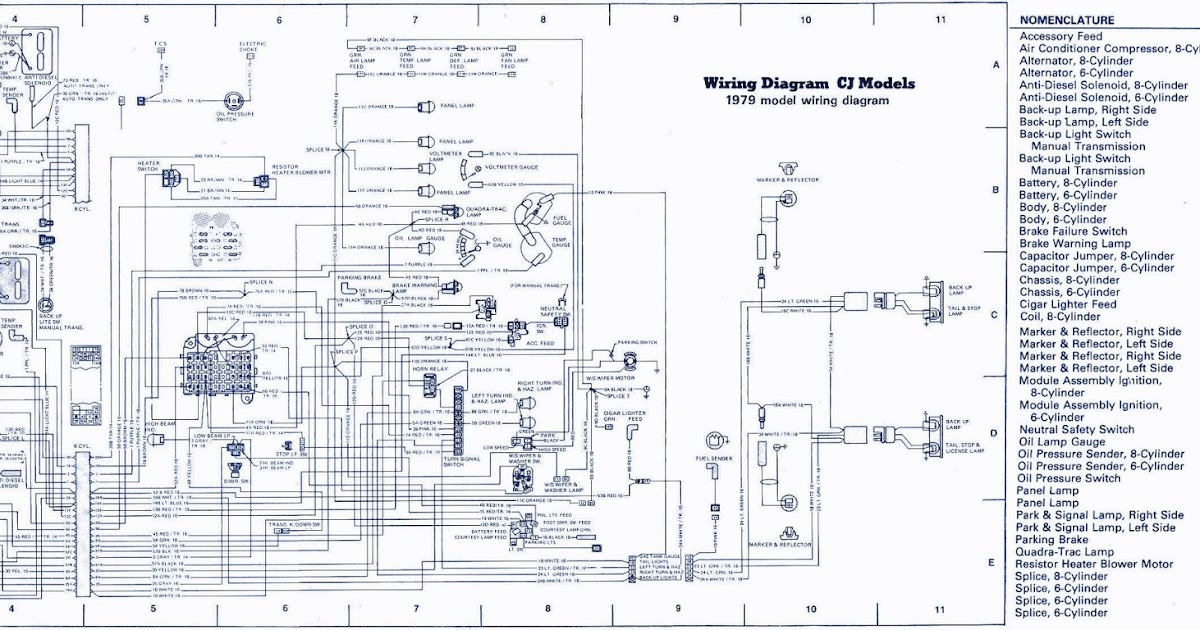 jeep cj wiring diagram 2000 wiring diagrams schematic rh galaxydownloads co Jeep CJ5 Dash Wiring Diagram 79 jeep cj5 wiring diagram starter solenoid