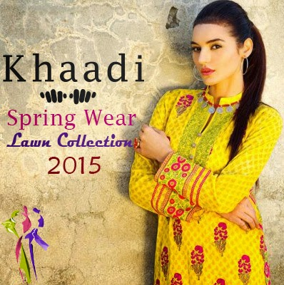 Khaadi Spring Wear Lawn Collection 2015