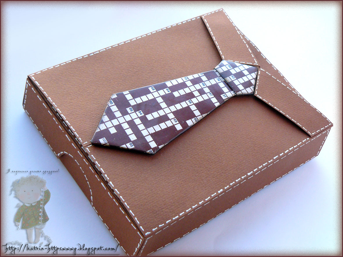 Коробочки для галстуков своими руками