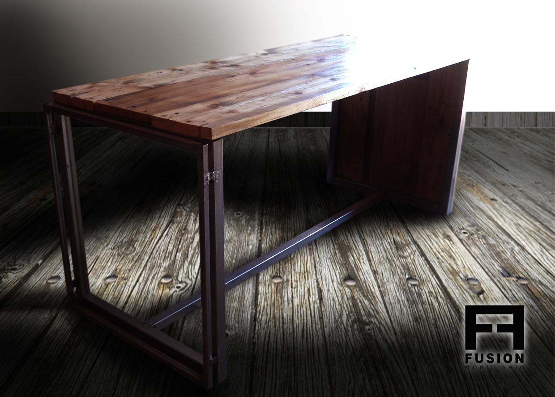 Mesa comedor de madera reciclada fusion mobiliario - Mesas de comedor restauradas ...