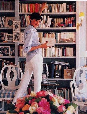 ines de la fressange, bookcases