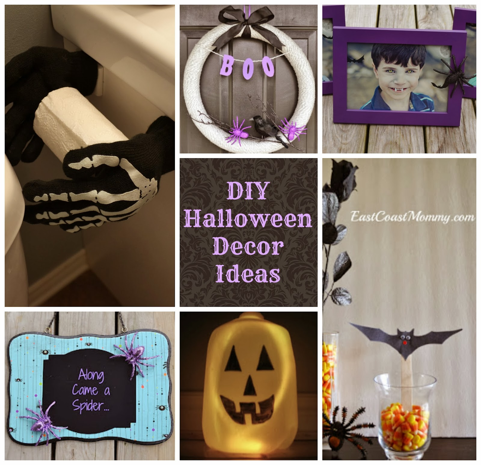 East coast mommy 7 fantastic diy halloween decor ideas - Interesting diy halloween wreaths home ...