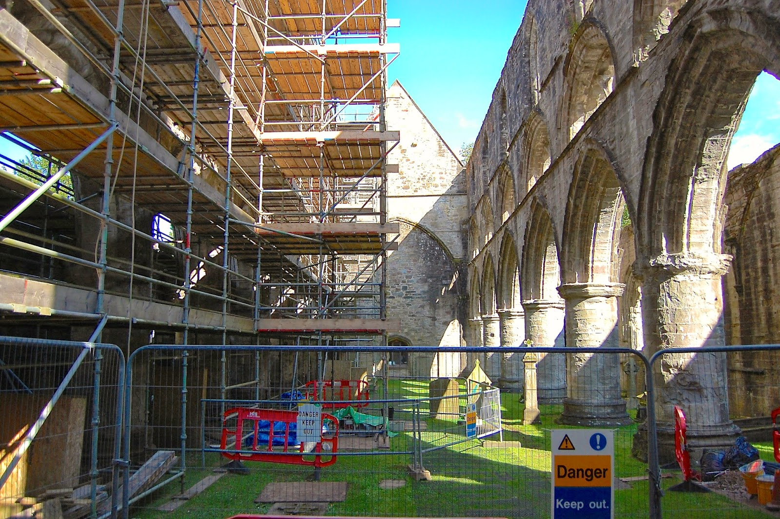 Ongoing repairs at Dunkeld Cathedral prevents access